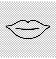 Lips sign Line icon vector image vector image