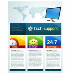 tech support brochure vector image vector image