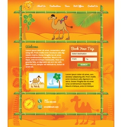 Tropic Travel Concept for Web Site vector image vector image