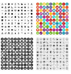 100 profession icons set variant vector