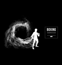 abstract silhouette of a boxer mma ufc fighter vector image