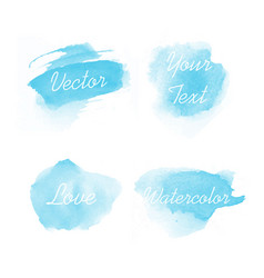 abstract watercolor template set design vector image
