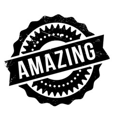 Amazing rubber stamp vector