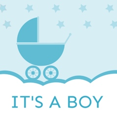 Baby Shower Its a boy vector