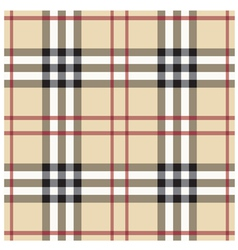 Beige Seamless Tartan Pattern vector