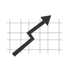 Black arrow on grey grid vector