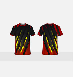 Black red and yellow pattern layout e-sport vector