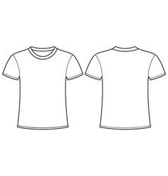 Blank T Shirt Template Front And Back Royalty Free Vector