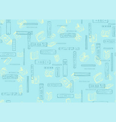 Books seamless pattern background vector