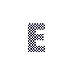 checker pattern logo letter e vector image