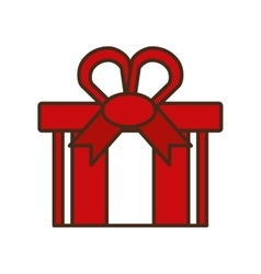 christmas gift isolated icon vector image