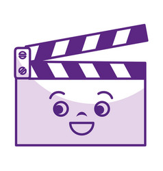 Clapperboard cinema kawaii character vector