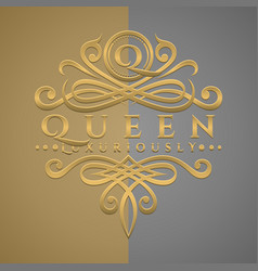 Classic luxurious letter q logo with embossed vector