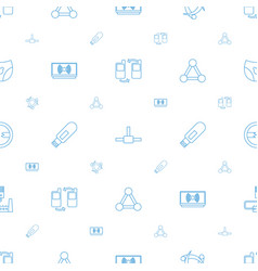 Connect icons pattern seamless white background vector