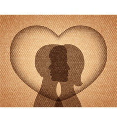 Couple in love silhouettes vector