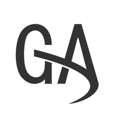 Creative letter ga logo icon vector