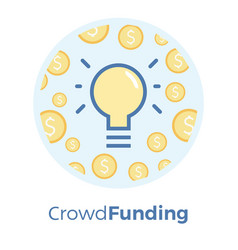 crowdfunding flat idea of vector image