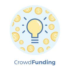 crowdfunding flat idea vector image