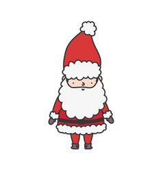 cute santa claus character happy christmas vector image