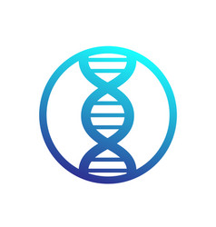 Dna strand icon in circle vector