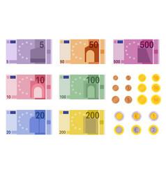 Euro banknotes european banks financing paper vector