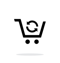 Exchange product simple icon on white vector