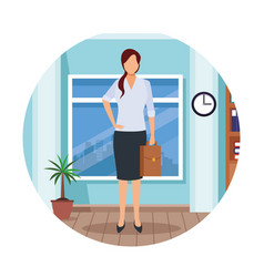 executive woman cartoon vector image