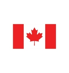 Flat icon on white background flag of Canada vector