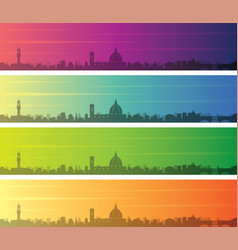 Florence multiple color gradient skyline banner vector