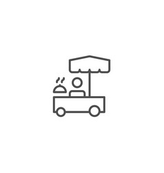 food kiosk icon vector image