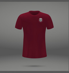 football kit of qatar vector image