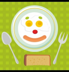 fried eggs background vector image