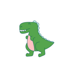 funny dino cartoon vector image