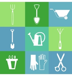 Gardening tools icon set vector image