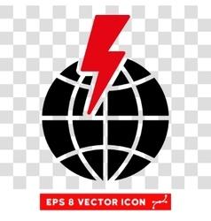 Global Shock Eps Icon vector image
