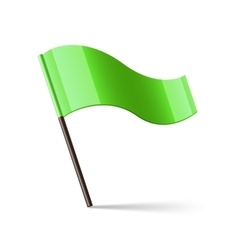 Green waving flag vector