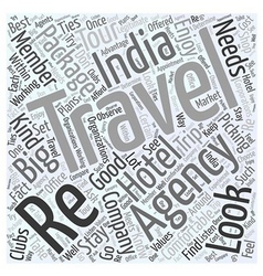 India travel agency Word Cloud Concept vector