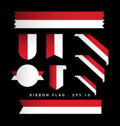 Indonesia ribbon flag template design vector