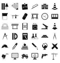 Instrument icons set simple style vector
