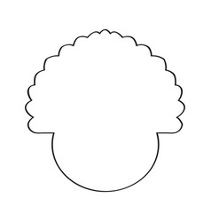 Isolated outline of a turkey vector