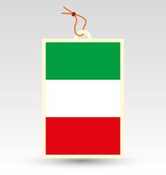 Italy tag vector