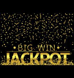 Jackpot big win vector