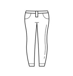 Jeans line icon vector