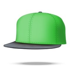 Layout of Male green rap cap vector image