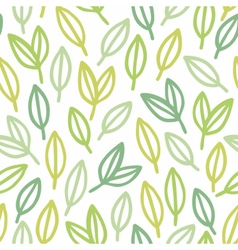 Line art leaf pattern vector