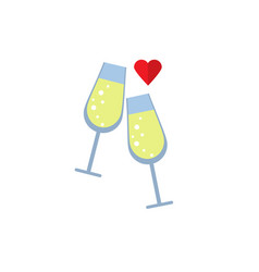 lovers drink flat on white background vector image