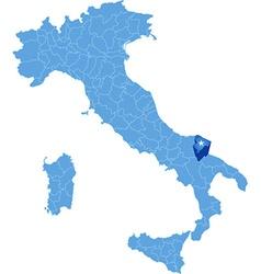 Map of Italy Barletta-Andria-Trani vector