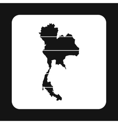 Map of Thailand icon simple style vector image