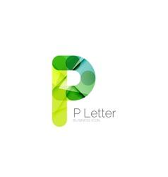 Minimal P font or letter logo design vector