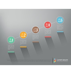 Modern business step by step infographic template vector image